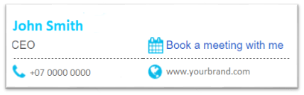 9 - email booking widget
