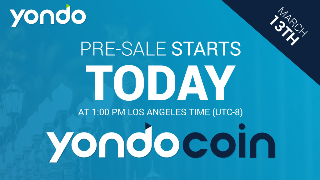 The YondoCoin (YON) Token Sale Starts Today